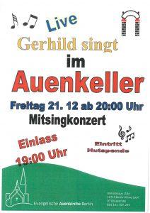 Gerhild singt - Mitsingkonzert @ Auenkeller